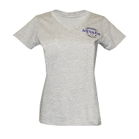 T-Shirt - Ladies V Neck Battle Born Logo - Heather Gray - Adult Sizes