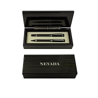 Ink Pen and Roller Pen Set in a Caron Fiber Box with a Silver Nevada State Seal on the Top