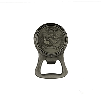 Magnet - Pewter Finish with Nevada 1864 Mustangs Shaped as a Bottle Opener