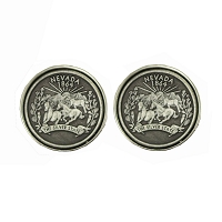 Cufflinks - Nickel Plated Cameo Cufflinks