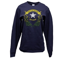 T-Shirt - Battle Born Logo - Long Sleeve - Navy - Adult Sizes