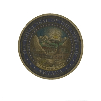 Nevada State Seal Wood Sticker