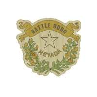 Nevada State Battle Born Logo Wood Sticker