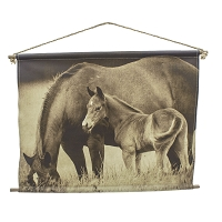 Canvas Wall Art - A Mother's Affection - Mare and Colt