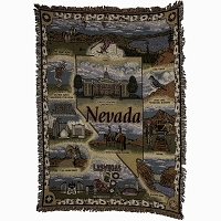 Nevada Tapestry with Nevada State Outline - 50
