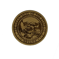 Magnet - Wood - Nevada State Seal