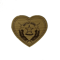 Magnet - Wood - Nevada Battle Born Heart