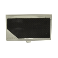 Business Card Holder - Black Carbon Fiber Card Holder Engraved with