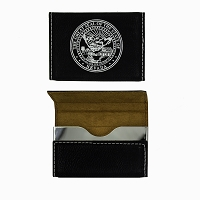 Card Holder - black Leatherette with Magnetic State Seal
