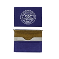 Cardholder - Blue Leatherette Magnetic with Nevada State Seal