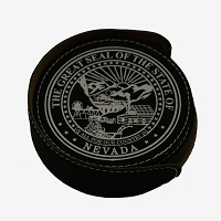 Coasters - Black Leatherette with the Nevada State Seal