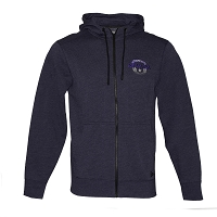 Hooded Blue Sweatshirts - Mens -  with Embroidered Nevada Battle Born Insignia
