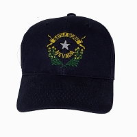 Cap - Navy Blue and Battle Born Logo