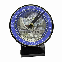 Clock - Desk Clock with the Nevada State Seal