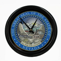 Clock - Wall Clock with the Nevada State Seal
