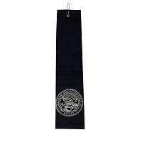 Navy Golf Towel with Nevada State Seal