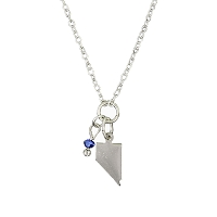 Necklace - Nevada Silver with Blue Charm