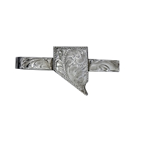 Tie Bar - Nevada Tooled Silver - Hand Tooled in Nevada