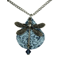 Necklace - Dragonfly on Shell