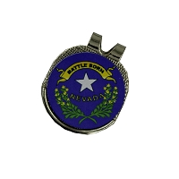 Golf Ball Marker - Hat Clip - Battle Born with the Nevada State Seal