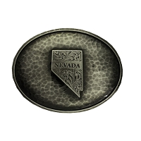 Belt Buckle - Nevada Grunmetal - Oval