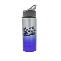 Sports Water Bottle - Aluminum 25 Ounce - Two Tone with Straw