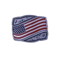 Belt Buckle - Classic Painted Waving American Flag