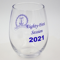 Wine Glass - Nevada Legislature 81st Session 2021 - Stemless 15 oz.