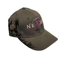 Cap - Battle Born Nevada - Khaki with Pink Stitching