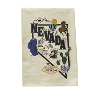 Flour Sack Towel - Nevada Map