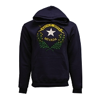 Hooded Sweatshirt with Embroidered Nevada Battle Born Insignia