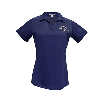 Polo Shirt Ladies Diamond Jacquard with Embroidered Battle Born Insignia