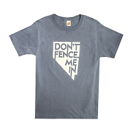T-Shirt - Don't Fence Me In - Short Sleeve -Denim Blue - Adult Sizes