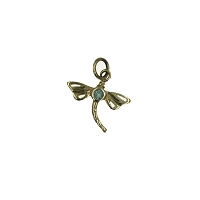 Pendant - Silver Dragonfly Pendant with Blue Topaz Stone