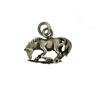 Charm - Small Horse - Sterling Silver