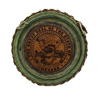 Leather Nevada State Seal with Two Rope Lariat - 20 1/2