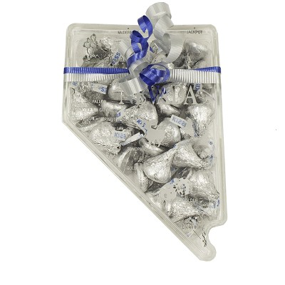 Clear Nevada State Shaped Candy Box - Filled
