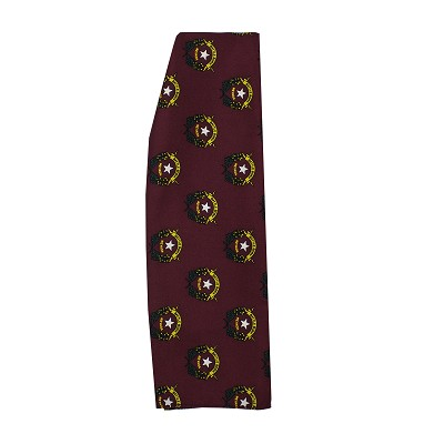 "Battle Born Burgundy Silk Scarf - 24"" X 24"""
