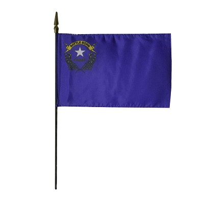 "Nevada State Flag - 8"" X 12"" with Staff"