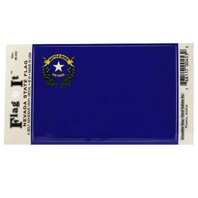 "Nevada State Flag Decal - Large 3 1/4"" X 4 7/8"""