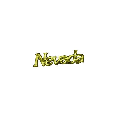 "Lapel Pin - Word ""Nevada in Gold Color"