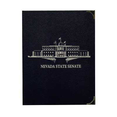 Pad Holder with Nevada State Legislative Building on Cover - Senate - Navy