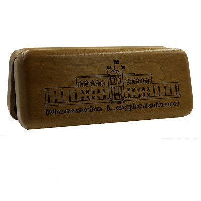 Wooden Box with Nevada State Legislative Building on Top