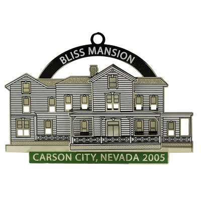 2005 - Bliss Mansion White and Green Ornament - The Historical Buildings Ornament Collection of Carson City, Nevada