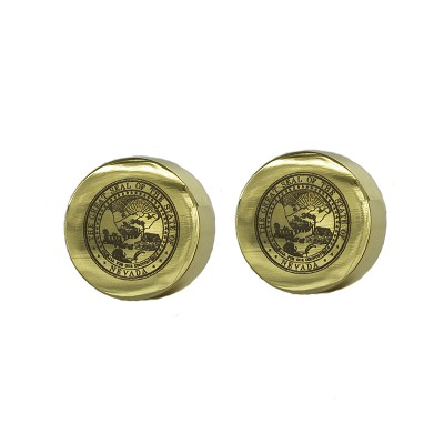 Cufflinks - Nevada State Seal - Gold Plated