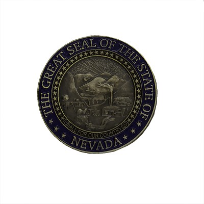 Magnet - Nevada State Seal in Steel and Blue Refrigerator Magnet