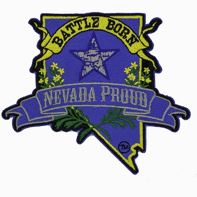 Patch - Battle Born Logo and Nevada Proud Logo Iron-on Patch