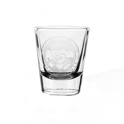 Clear Shot Glass with Nevada State Seal - 1.5 oz.