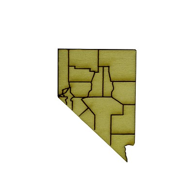Pin - Light Wood Nevada Counties - Small