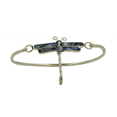 Dragonfly Bangle with Shell Inlays